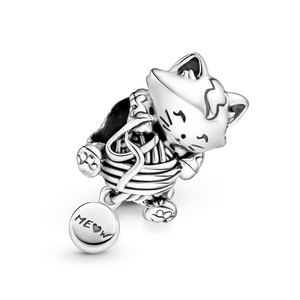 Bilde av Pandora Kitten & Yarn Ball charm